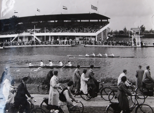 GB 4+ come second in their heat in 1954