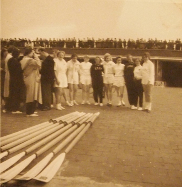 British and Russian competitors at the Women's European Rowing Championships 1954
