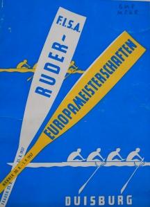 1957 European Rowing Championships programme
