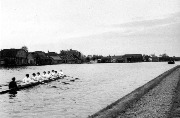 1958 ULWBC practising on the Old Rhine - Alphen - Holland