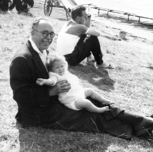 Frank Harry with baby Gillian Body