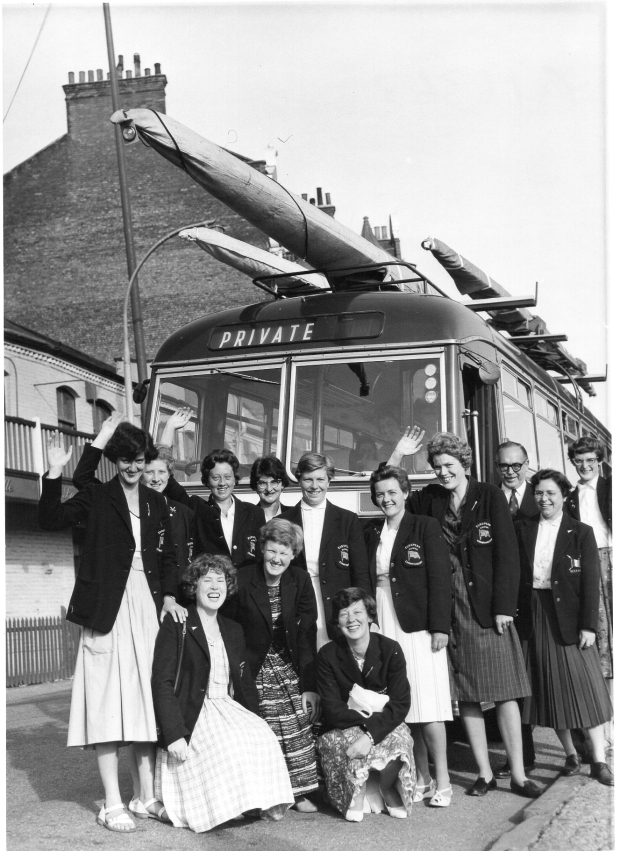 1961 team with bus