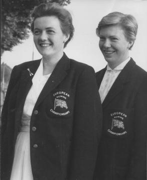 Zona (left) and Viv in 1961.