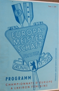 1962 Women's European Rowing Championships programme