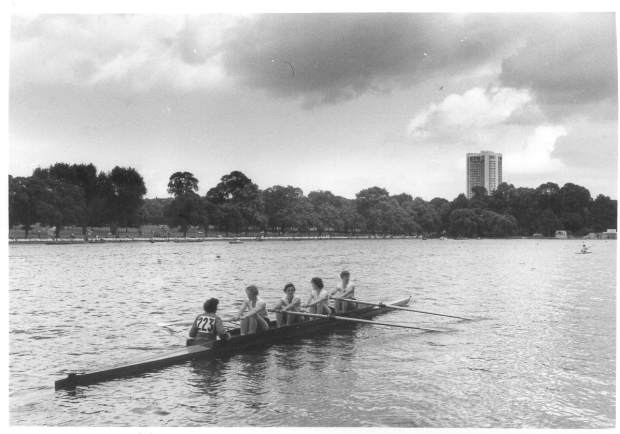 1963 Serpentine regatta UU coxed four