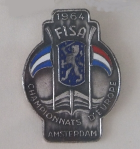1964 European Championships metal competitor's badge