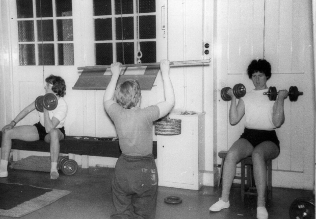 1964 Feb-Mar Edward's gym Ann-Barbara-PBR