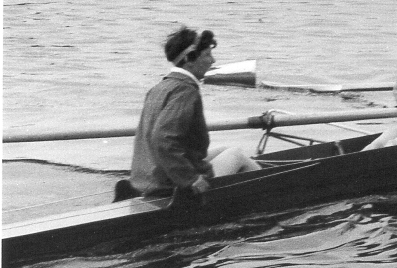 1965 June Brent Regatta at Welsh Harp - detail showing Mac with megaphone