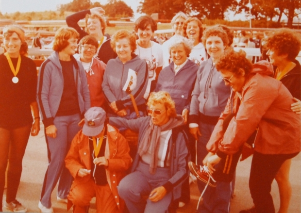 Barbara at FISA Masters Regatta in 1979