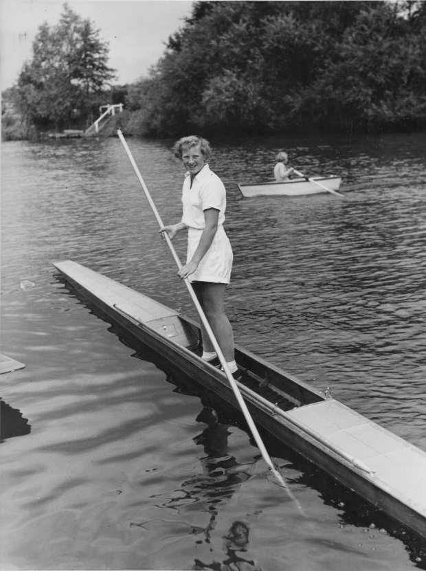 1956-inc girl in pulling dinghy