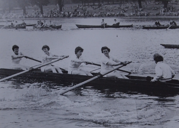 Rowing at the Serpentine in 1958