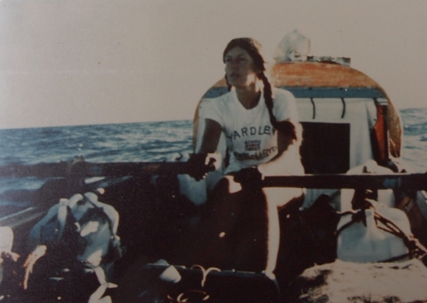 Sylvia Cook rowing the Pacific