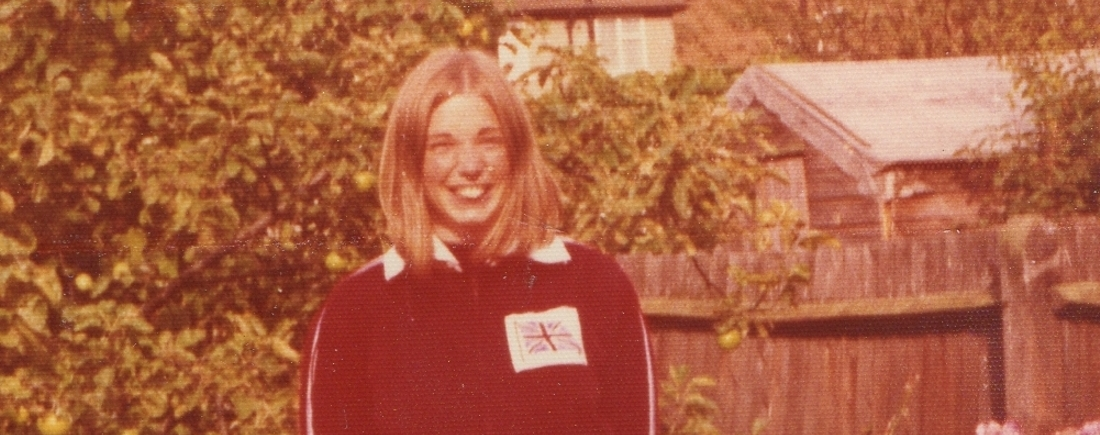 woman in GB tracksuit