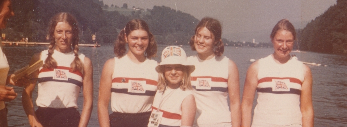 5 women in GB vests