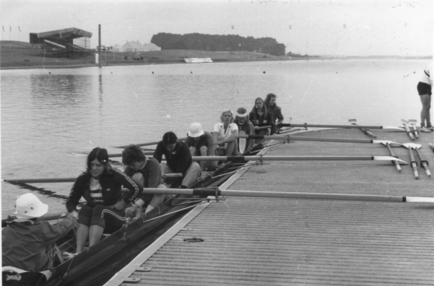 1975 8 training in crew order for heat (Handscomb at bow)