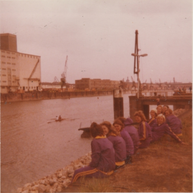 1975 Mannheim Regatta - watching in purple track suits