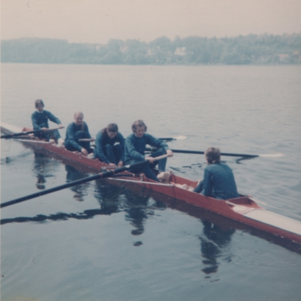 1976 Ratzeburg 4+ going out to race
