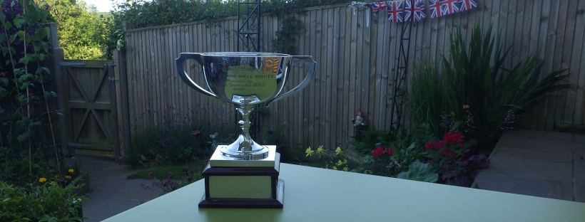Silver cup on square plinth