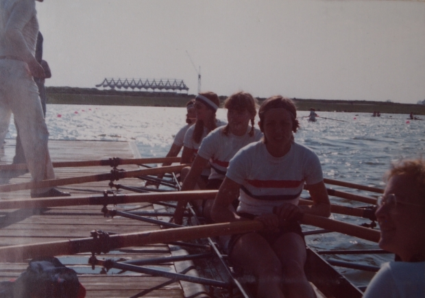 GB women's coxed quad at Salzgitter 1977