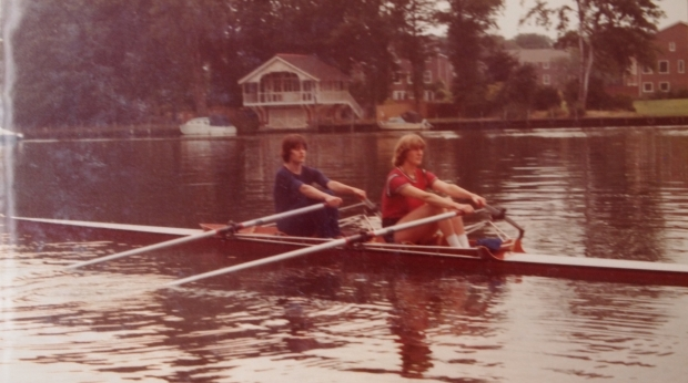 Pauline Hart and Astrid Ayling in the double scull