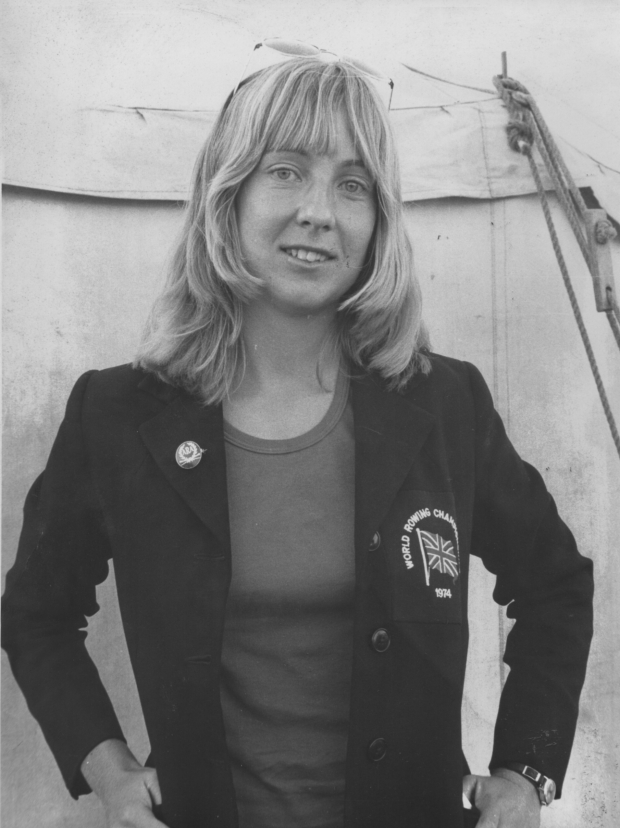1974-Maggie Lambourn at Oxford City Regatta-Abingdon Herald