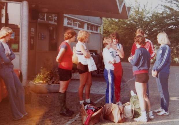 Some of the GB women's rowing team 1977