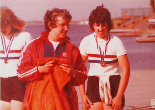 Members of the GB women's coxed four 1977