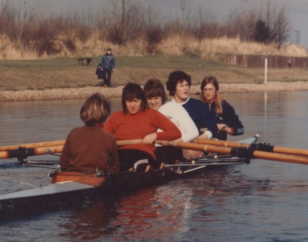 1978 women's GB 4+ in training