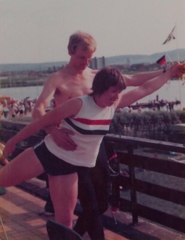 Chris Blackwall and Gill Webb at Salzgiter Regatta 1978