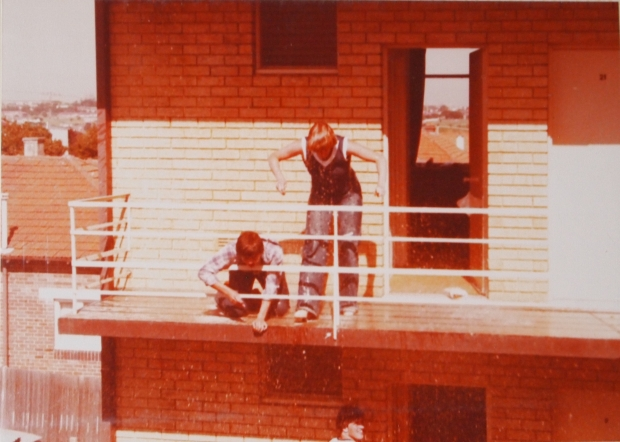 GB team water fight, Sydney, 1978