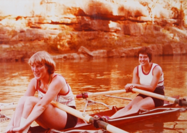 Astrid Ayling and Pauline Hart training in NZ 1978