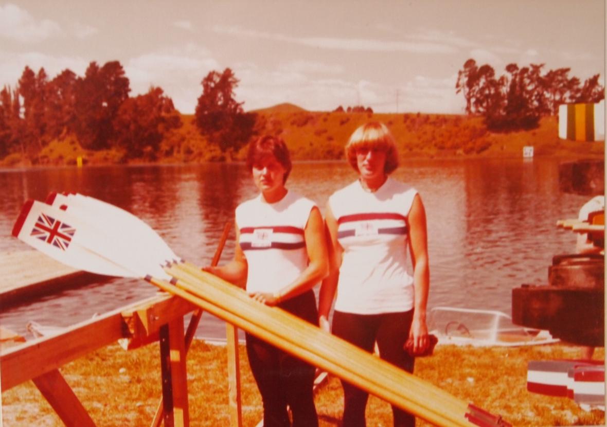 Pauline Hart and Astrid Ayling 1978 in Karapiro