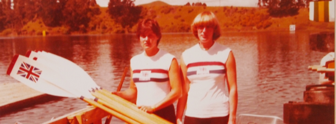 Pauline Hart and Astrid Ayling 1978 in Karapiro