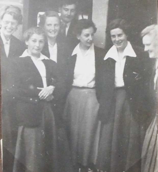 1953 crew in formal outfits