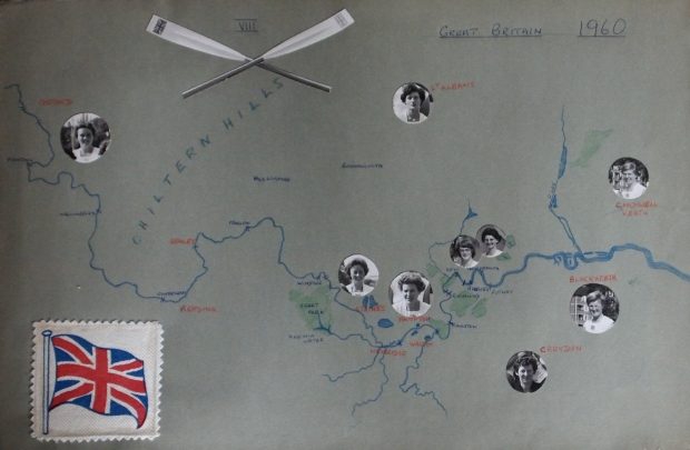 Hand-drawn map of wher tehe 1960 VIII lived
