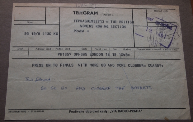 Telegram from Frank Harry