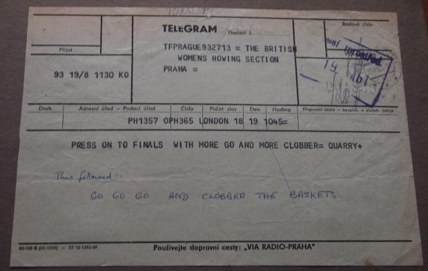 Telegram from Frank Harry