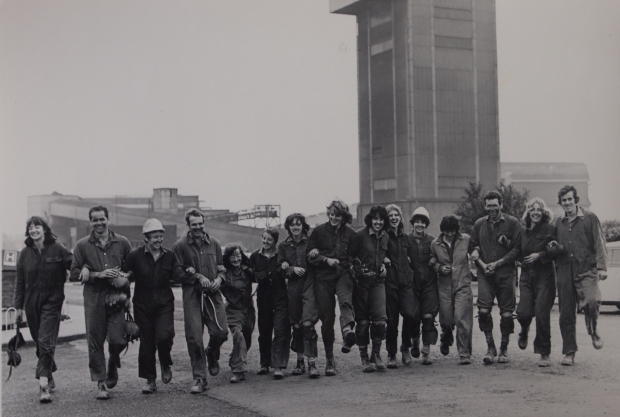 1977 GB rowing team trip to Cotgrave Colliery