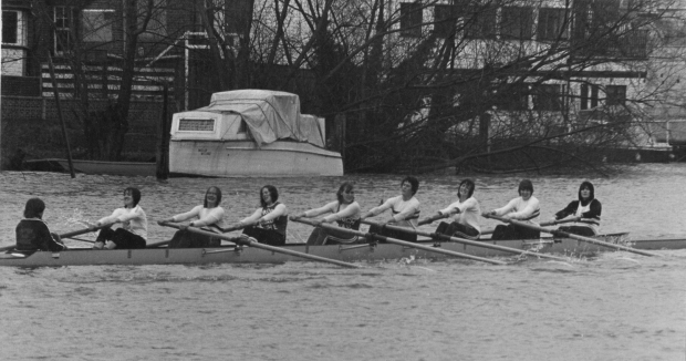 GB women' eight at Reading Head 1979