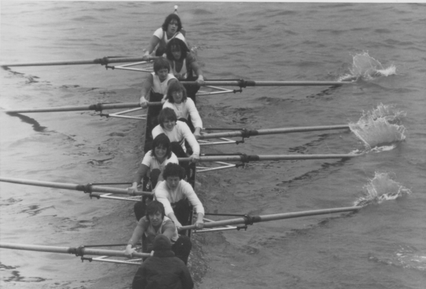GB women's eight around March 1979