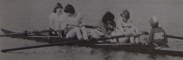 Women's coxed four at trials 1979