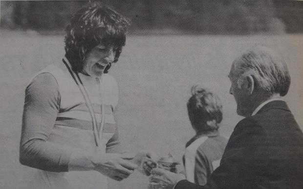 Beryl Mitchel at Copenhagen Regatta in 1980