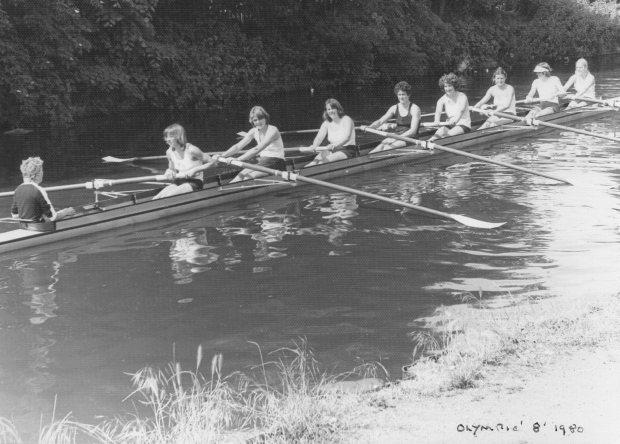 1980 training on Grand Union Canal in London