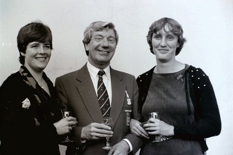 Formal photo of Rosie Clugston, Ron Needs and Astrid Ayling