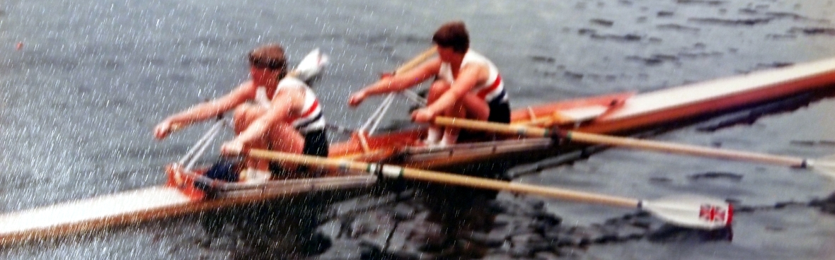 Astrid Ayling and Rosie Clugston in a GB double scull