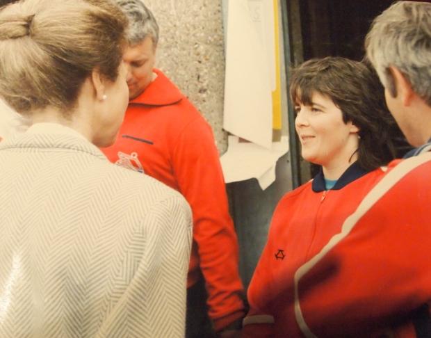Rosie meets Princess Anne