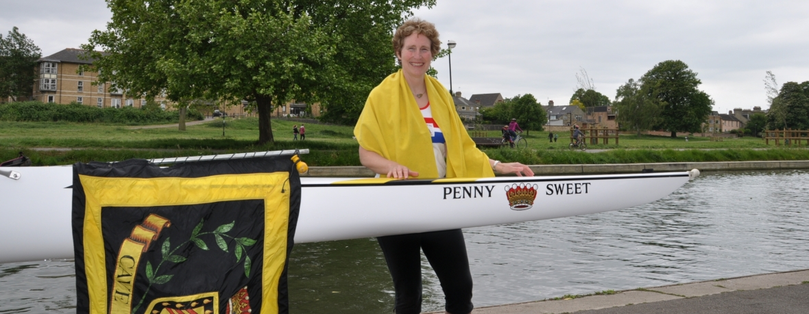 Penny Sweet with boat named after her