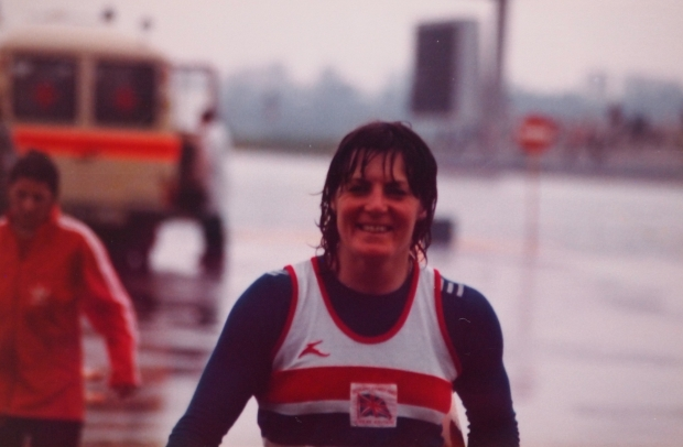 Beryl Mitchell after finishing fifth at the Moscow Olympics in 1980