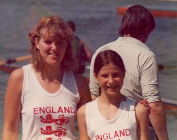 Sue and Barbara in England vests