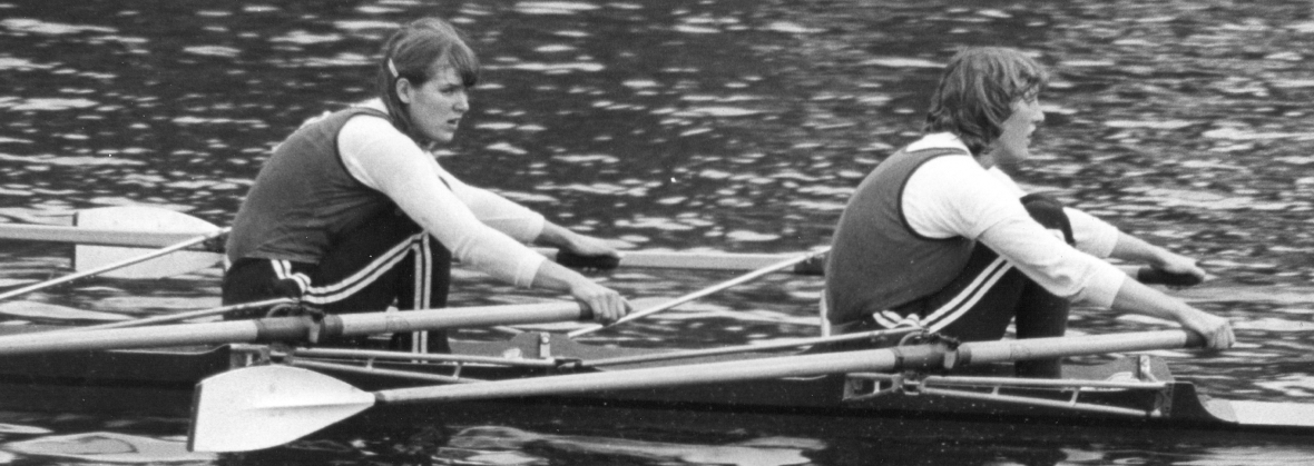 Sue McNuff and Astrid Ayling in a double scull